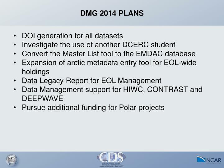DMG 2014 PLANS