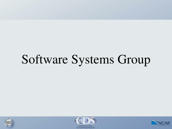 Software Systems Group