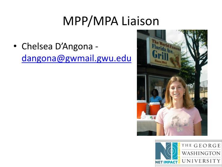 MPP/MPA Liaison