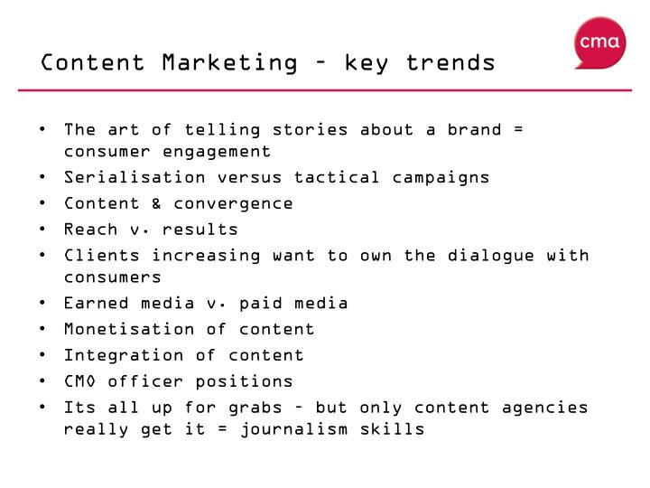 Content Marketing – key trends
