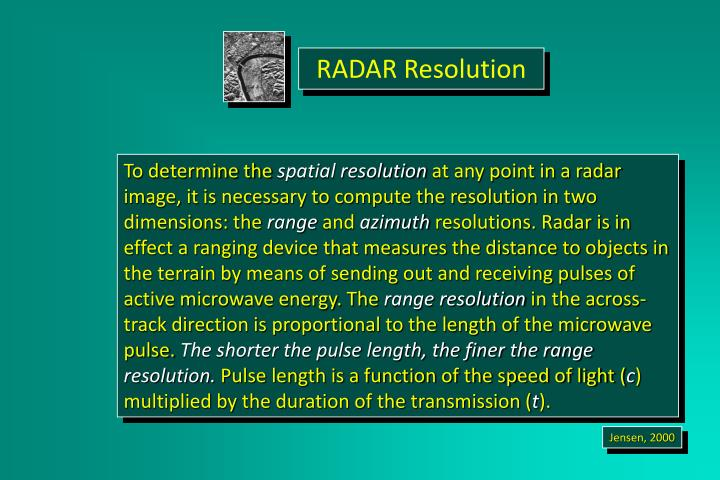 RADAR Resolution