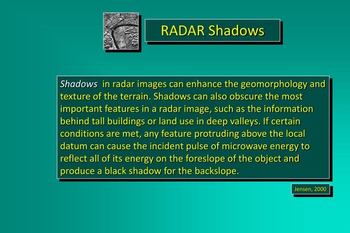 RADAR Shadows