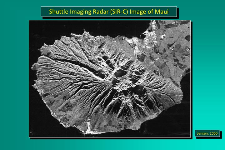 Shuttle Imaging Radar (SIR-C) Image of Maui