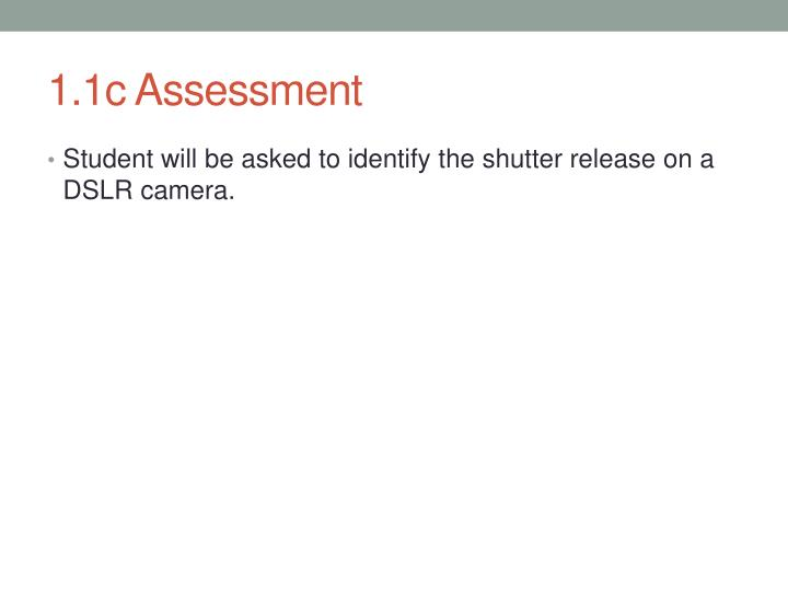 1.1c Assessment