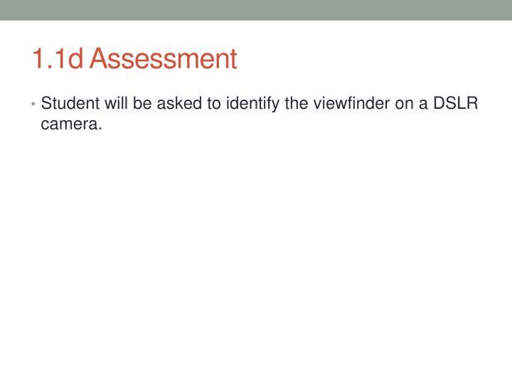1.1d Assessment
