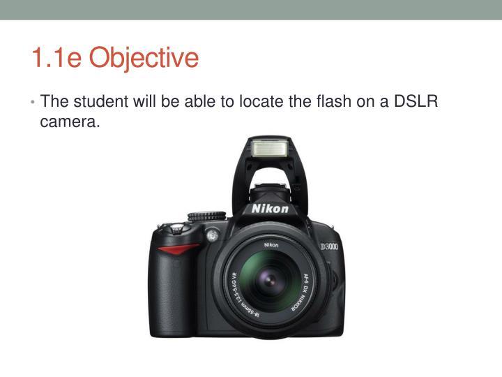 1.1e Objective