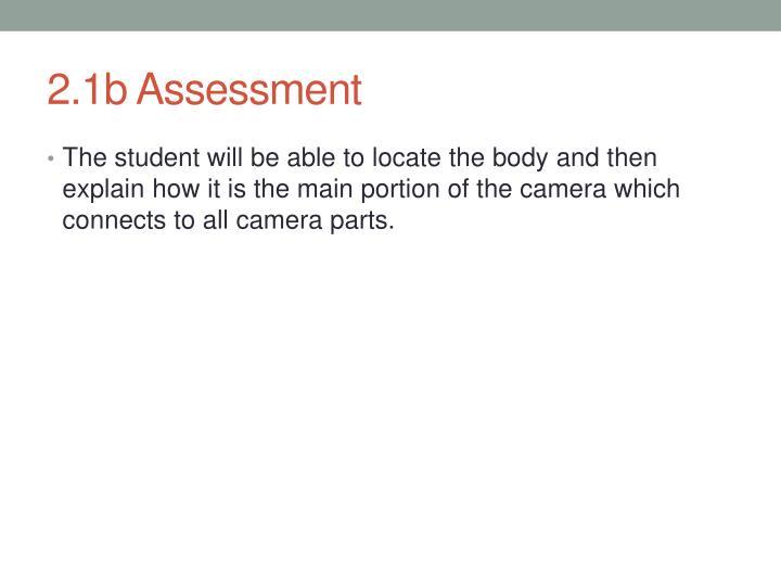 2.1b Assessment