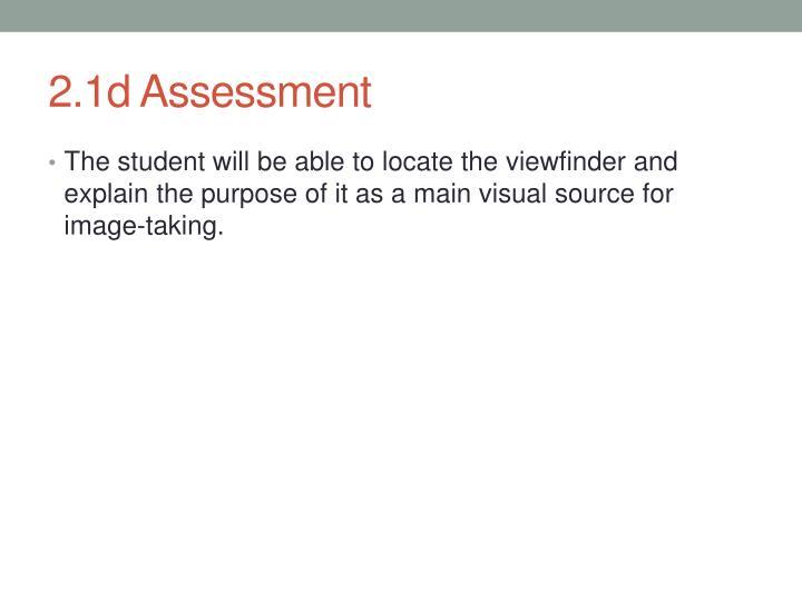2.1d Assessment
