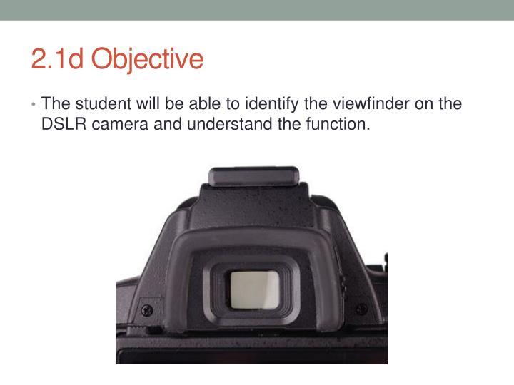 2.1d Objective
