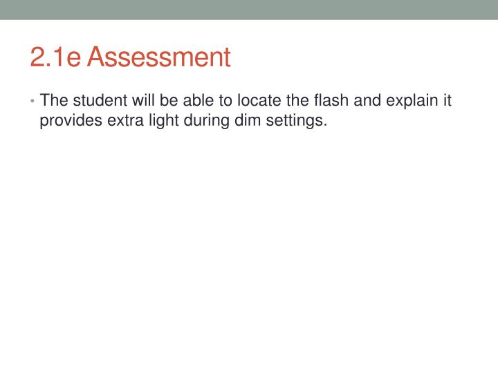 2.1e Assessment