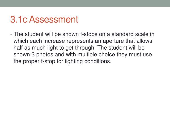 3.1c Assessment