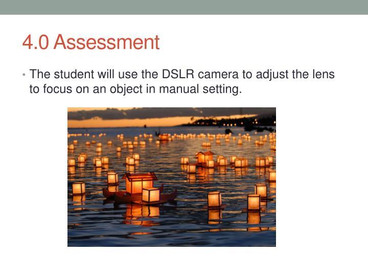 4.0 Assessment