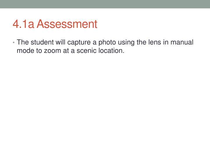 4.1a Assessment