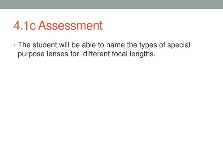 4.1c Assessment