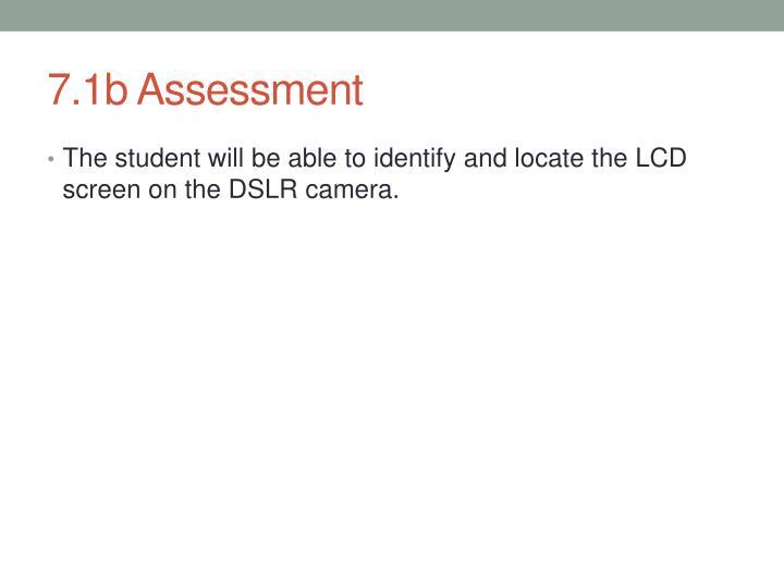 7.1b Assessment