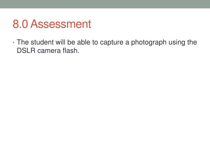 8.0 Assessment