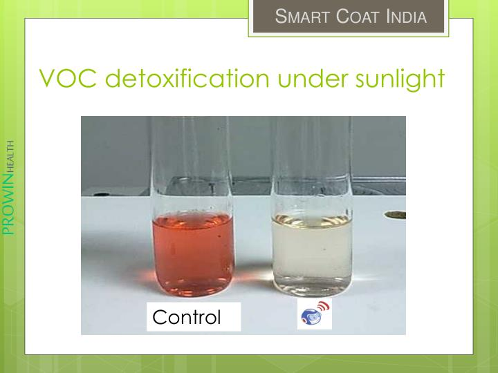 VOC detoxification under sunlight