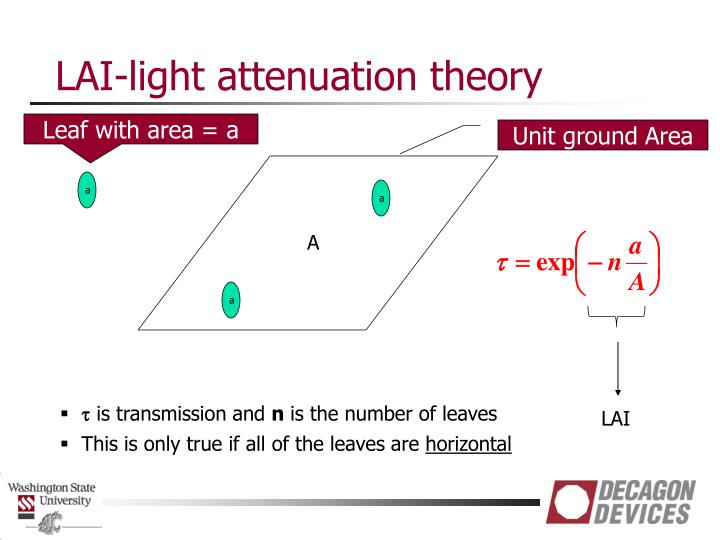 LAI-light attenuation theory