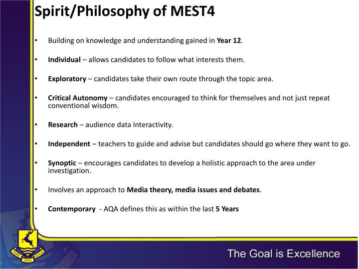 Spirit/Philosophy of MEST4