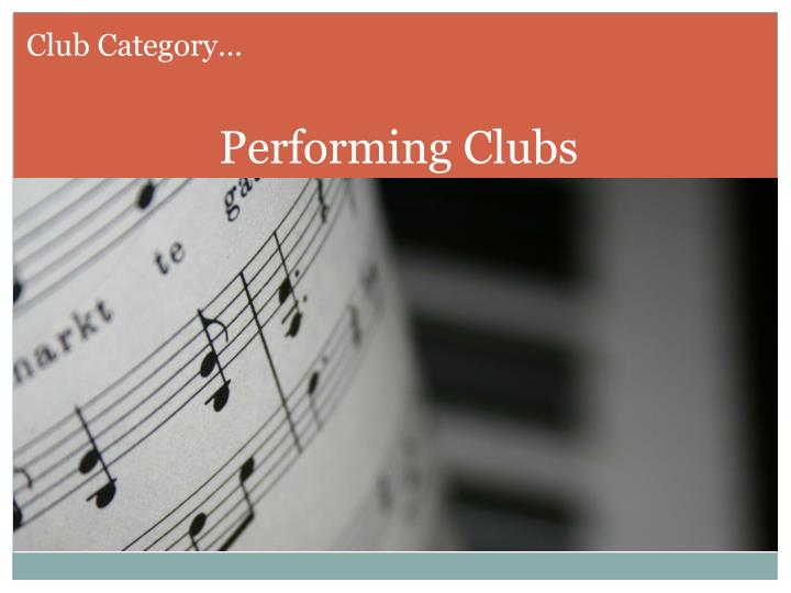 Club Category…