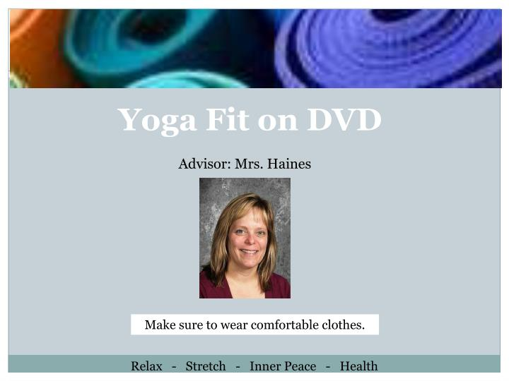 Yoga Fit on DVD