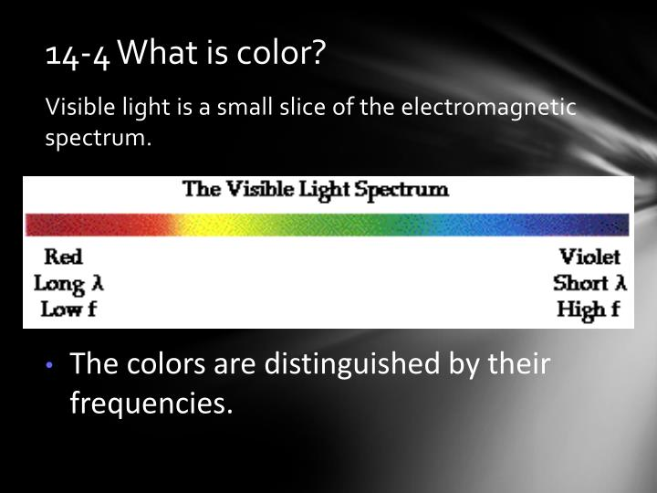 14-4 What is color?