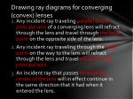 drawing ray diagrams for converging convex lenses