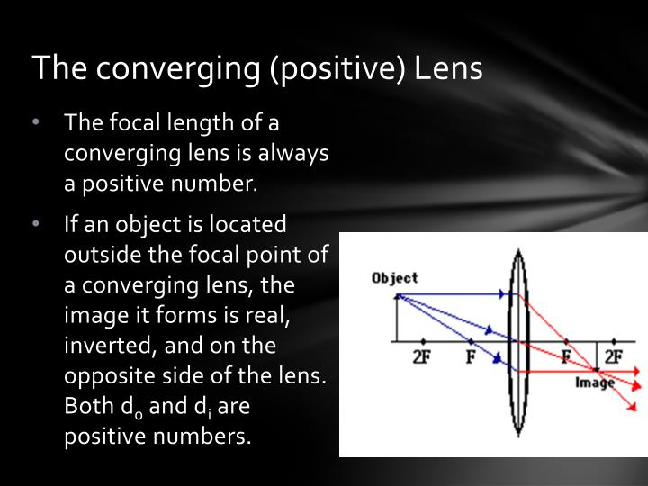 The converging (positive) Lens