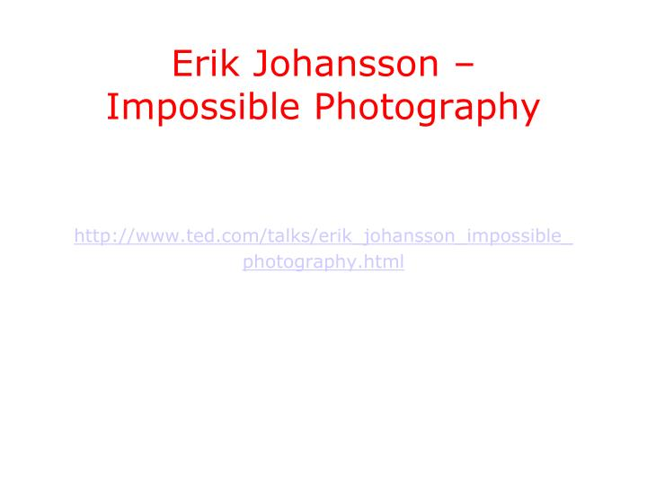 Erik Johansson –