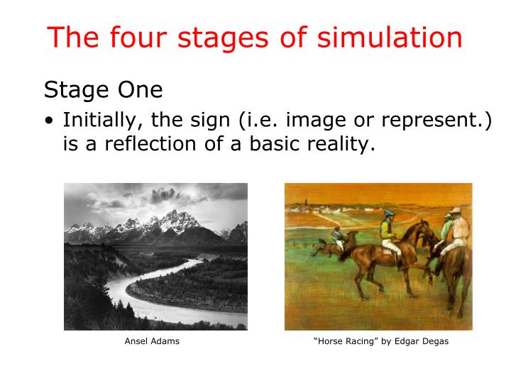 The four stages of simulation