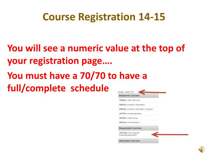 Course Registration 14-15