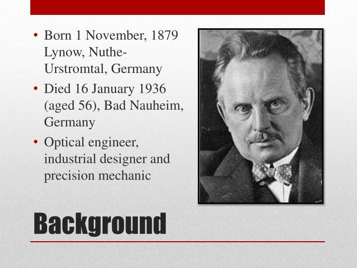 Born 1 November, 1879