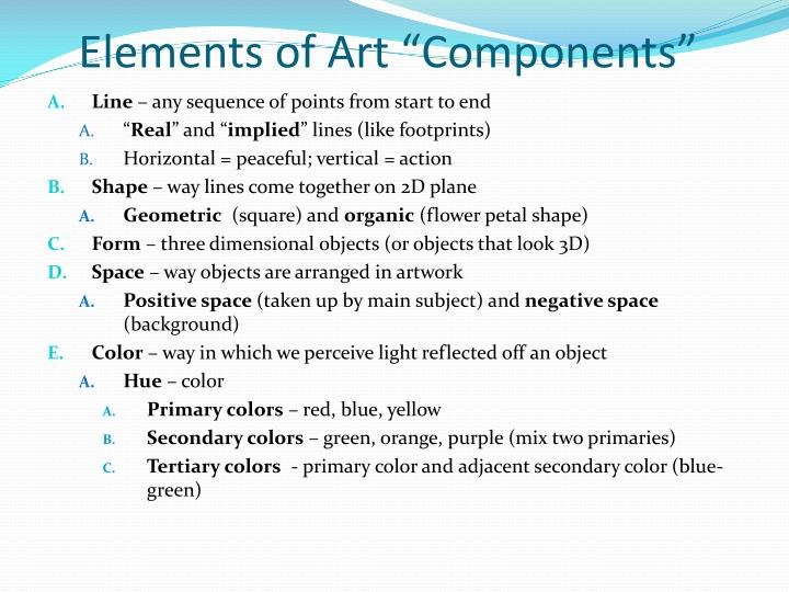 "Elements of Art ""Components"""