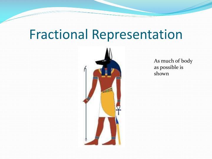 Fractional Representation