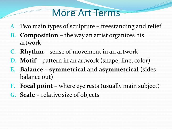 More Art Terms