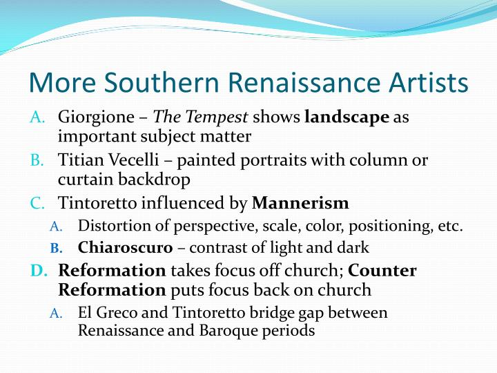 More Southern Renaissance Artists