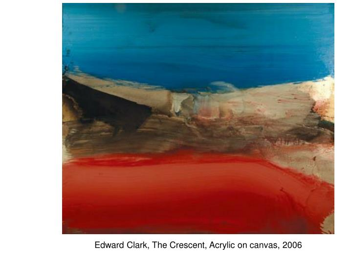 Edward Clark, The Crescent, Acrylic on canvas, 2006
