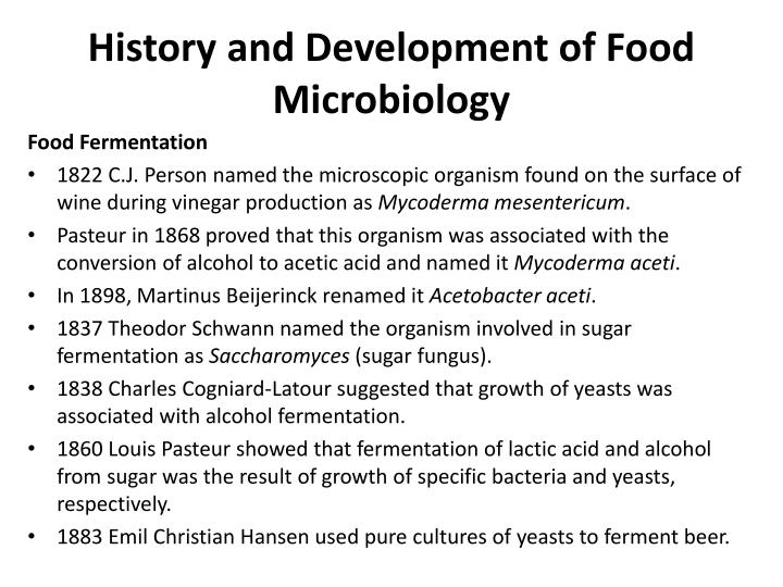 History and Development of Food