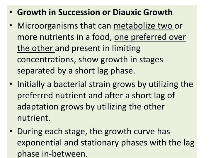 Growth in Succession or