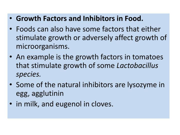 Growth Factors and Inhibitors in Food.