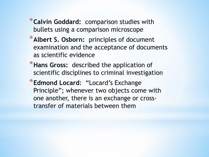 Calvin Goddard: