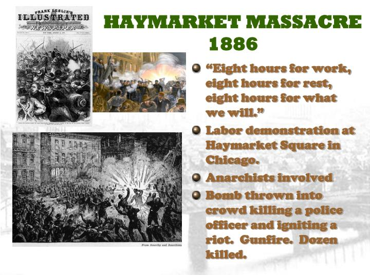 the haymarket anarchists dangers to chicago and the union About this site during the gilded  and faced their own dangers  the so-called haymarket affair saw eight avowed anarchists sentenced to death for the bombing.