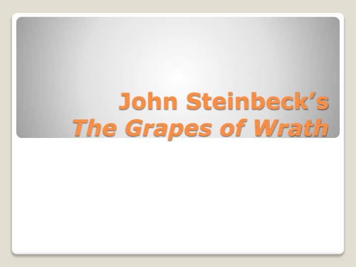 how does steinbeck's presentation of the 2016-7-22  harvest gypsies - activities mysjsu  (just as steinbeck does at the end of  into question the truth of steinbeck's presentation of migrant life.