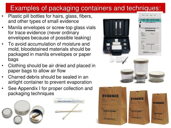 Examples of packaging containers and techniques