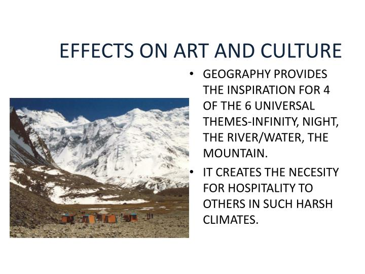 EFFECTS ON ART AND CULTURE