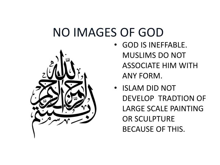 NO IMAGES OF GOD