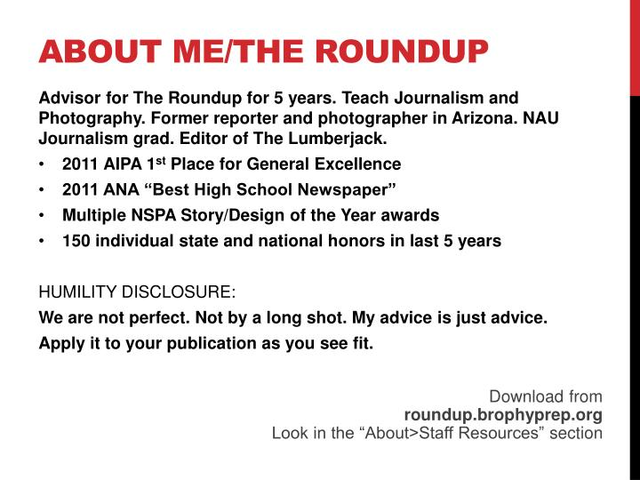 About me the roundup