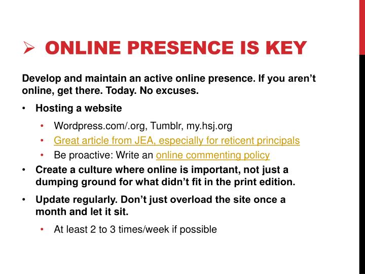 online presence is key