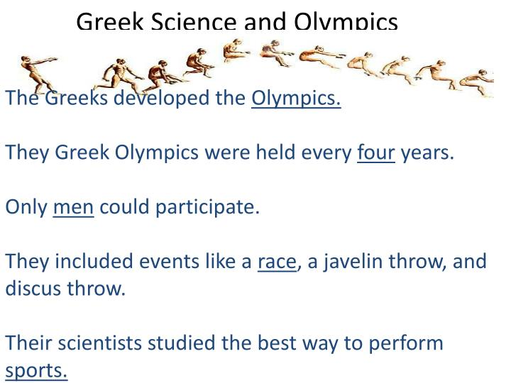 Greek Science and Olympics