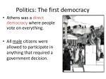 politics the first democracy